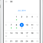 Open Source iOS Infinite Scrolling UICollectionView Based Calendar Component With Clean Styling